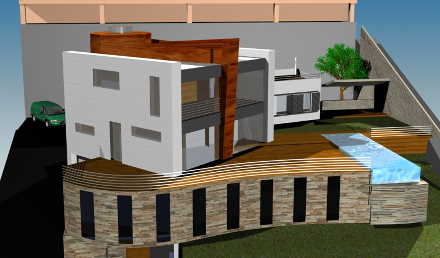 Moderno proyectos lumarquitec estudio de for Vivienda unifamiliar arquitectura