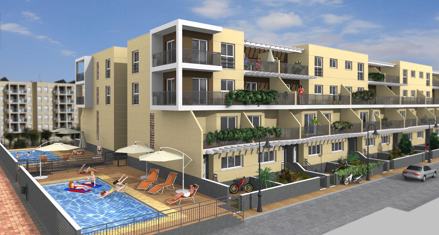 48 viviendas de p o en bloque y garajes proyectos - Arquitectura cartagena ...